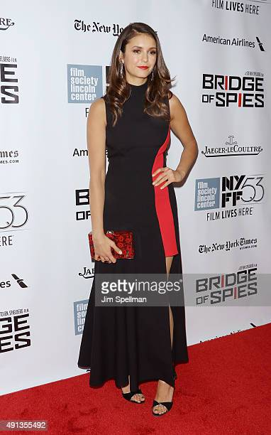Actress Nina Dobrev attends the 53rd New York Film Festival premiere of 'Bridge Of Spies' at Alice Tully Hall Lincoln Center on October 4 2015 in New...