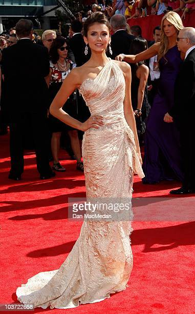 Actress Nina Dobrev attends the 62nd Annual Primetime Emmy Awards at Nokia Theatre Live LA on August 29 2010 in Los Angeles California