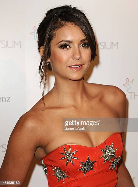 Actress Nina Dobrev attends the Art of Elysium's 7th annual Heavan gala at Skirball Cultural Center on January 11 2014 in Los Angeles California