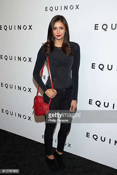 Actress Nina Dobrev attends the Contemporary Art and Experiential Performance Exhibition Entitled The Body Spectacle at Equinox Hollywood on October...