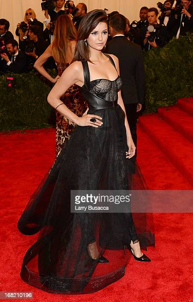 """Actress Nina Dobrev attends the Costume Institute Gala for the """"PUNK: Chaos to Couture"""" exhibition at the Metropolitan Museum of Art on May 6, 2013..."""