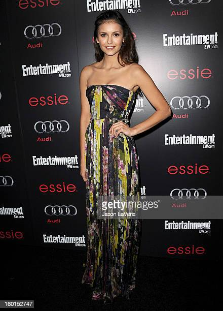 Actress Nina Dobrev attends the Entertainment Weekly Screen Actors Guild Awards preparty at Chateau Marmont on January 26 2013 in Los Angeles...