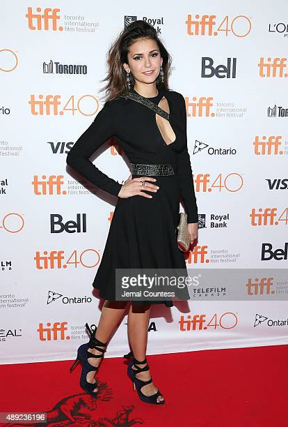 Actress Nina Dobrev attends the 'Final Girls' photo call during the 2015 Toronto International Film Festival at the Ryerson Theatre on September 19...