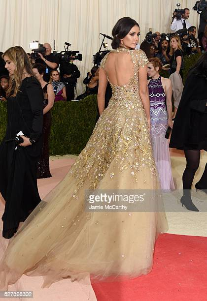 Actress Nina Dobrev attends the Manus x Machina Fashion In An Age Of Technology Costume Institute Gala at Metropolitan Museum of Art on May 2 2016 in...