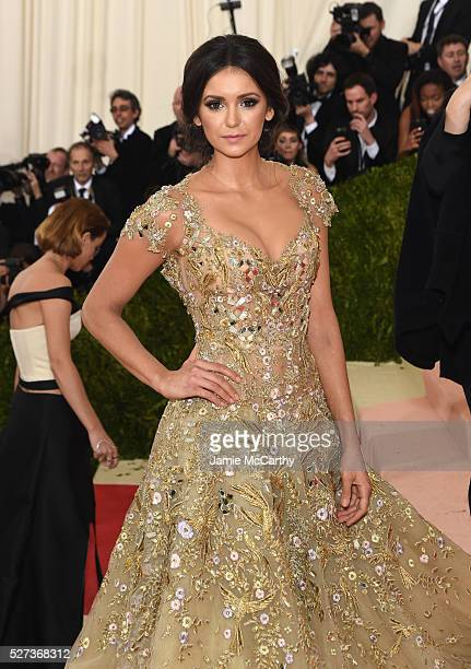 Actress Nina Dobrev attends the 'Manus x Machina Fashion In An Age Of Technology' Costume Institute Gala at Metropolitan Museum of Art on May 2 2016...