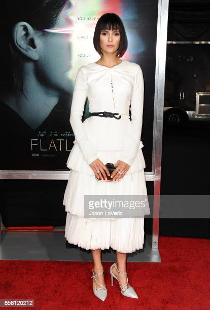 Actress Nina Dobrev attends the premiere of 'Flatliners' at The Theatre at Ace Hotel on September 27 2017 in Los Angeles California