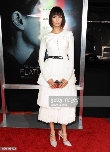 Actress Nina Dobrev attends the premiere of Flatliners at The Theatre at Ace Hotel on September 27 2017 in Los Angeles California
