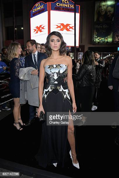 Actress Nina Dobrev attends the LA Premiere of the Paramount Pictures title 'xXx Return of Xander Cage' at TCL Chinese Theatre IMAX on January 19...