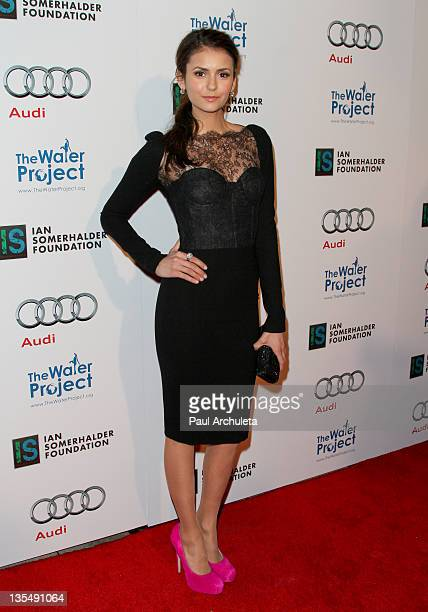 Actress Nina Dobrev attends 'The Ripple Effect' dinner party benefiting The Water Project charity at Sunset Luxe Hotel on December 10 2011 in Los...