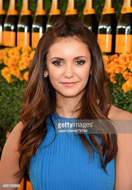 Actress Nina Dobrev attends the SixthAnnual Veuve Clicquot Polo Classic at Will Rogers State Historic Park on October 17 2015 in Pacific Palisades...