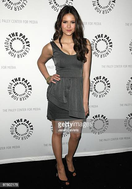 Actress Nina Dobrev attends The Vampire Diaries event at the 27th annual PaleyFest at Saban Theatre on March 6 2010 in Beverly Hills California