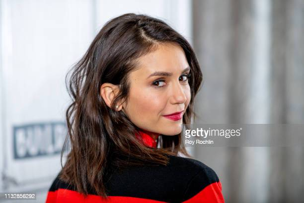 "Actress Nina Dobrev discusses ""FAM"" with the Build Series at Build Studio on February 28, 2019 in New York City."