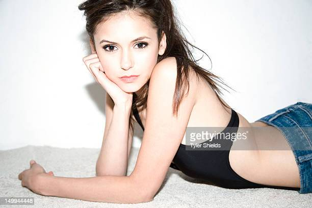 Actress Nina Dobrev is photographed for Self Assignment in Los Angeles United States