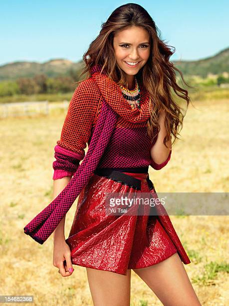 Actress Nina Dobrev is photographed for Seventeen Magazine on October 1 2012 in Los Angeles California