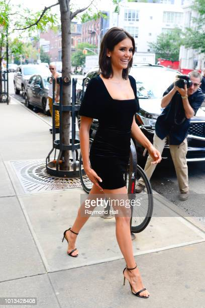Actress Nina Dobrev is seen in Soho on August 8 2018 in New York City