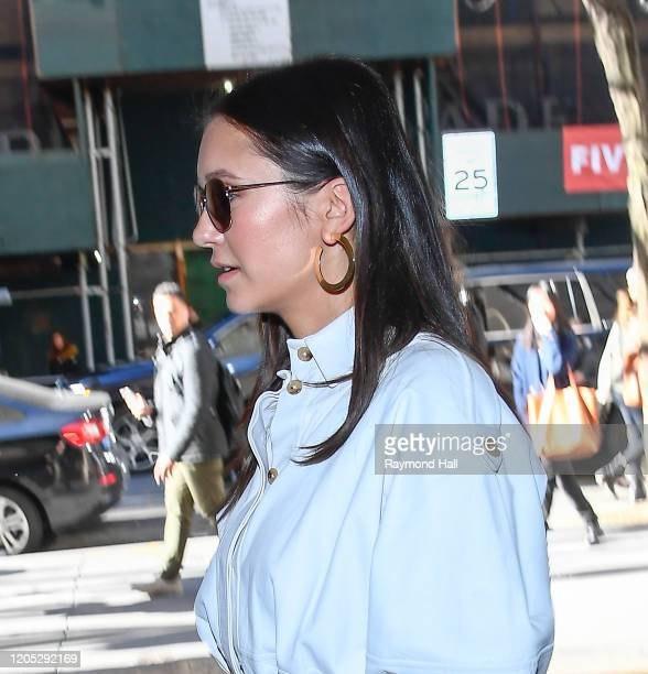 Actress Nina Dobrev is seen outside the today show on March 5 2020 in New York City