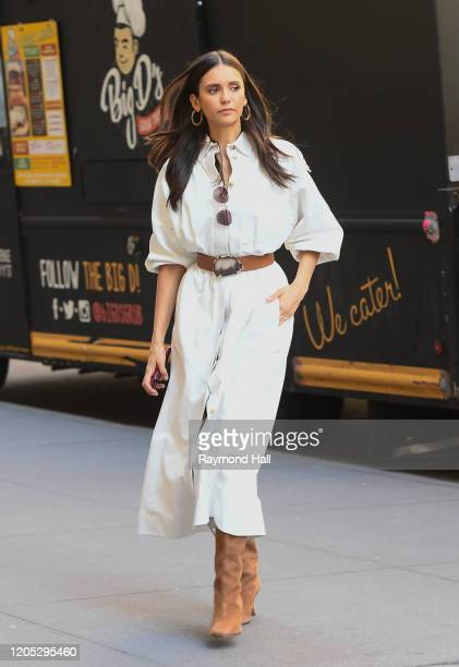 Actress Nina Dobrev is seen walking in midtown on March 5 2020 in New York City