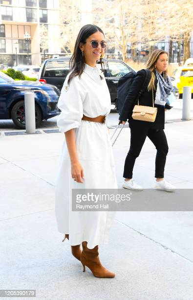 Actress Nina Dobrev is seen walking on March 5 2020 in New York City