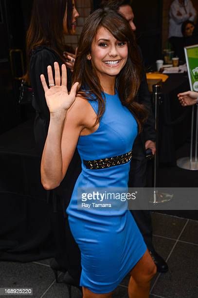 Actress Nina Dobrev leaves her Midtown Manhattan hotel on May 16 2013 in New York City