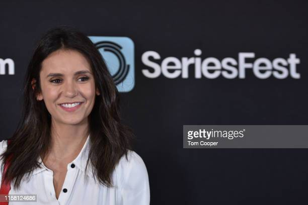 """Actress Nina Dobrev of the """"Fam,"""" """"Vampire Diaries"""" on the red carpet during SeriesFest Season 5 at Red Rocks on June 24, 2019 in Morrison, Colorado."""