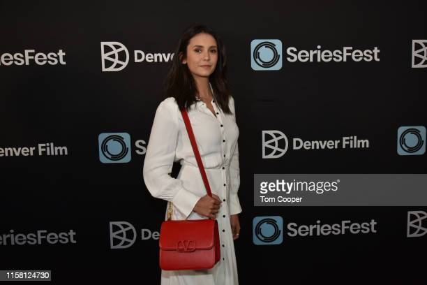 """Actress Nina Dobrev of the """"Fam,"""" """"Vampire Diaries""""on the red carpet during SeriesFest Season 5 at Red Rocks on June 24, 2019 in Morrison, Colorado."""
