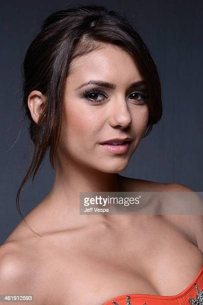 Actress Nina Dobrev poses for a Wonderwall portrait at The Art of Elysium's 7th Annual HEAVEN Gala presented by MercedesBenz at Skirball Cultural...