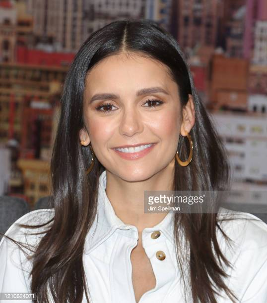 Actress Nina Dobrev visits People TV on March 05 2020 in New York City