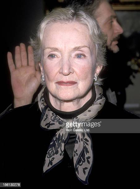 Actress Nina Foch attends the 23rd Annual Los Angeles Film Critics Association Awards on January 13 1998 at Wyndham Bel Age Hotel in West Hollywood...