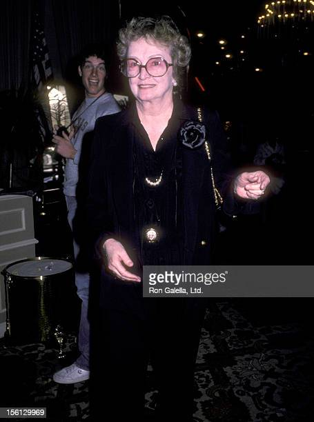 Actress Nina Foch attends the 57th Annual Academy Awards Nominees Luncheon on March 12 1985 at Beverly Hilton Hotel in Beverly Hills California