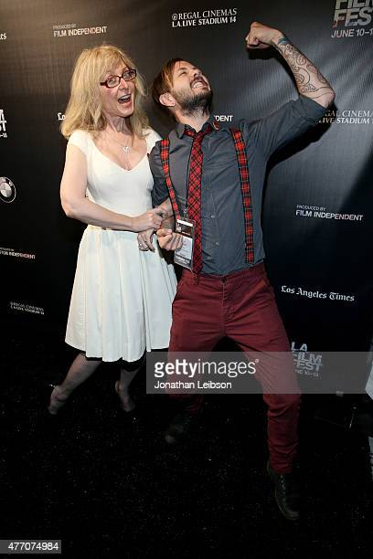 Actress Nina Hartley and director Tomm Jacobsen attend the Dude Bro Party Massacre III and SheVenge screenings during the 2015 Los Angeles Film...