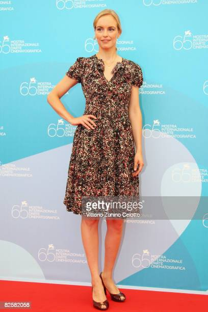 Actress Nina Hoss during the Jerichow Photocall part of the 65th Venice Film Festival at Palazzo del Casino on August 28 2008 in Venice Italy