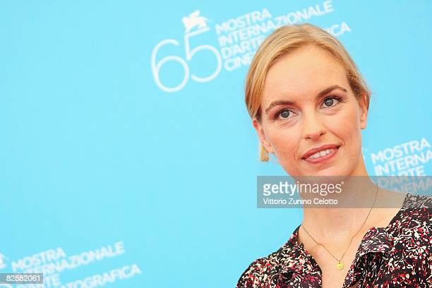 Actress Nina Hoss poses during the Jerichow Photocall part of the 65th Venice Film Festival at Palazzo del Casino on August 28 2008 in Venice Italy