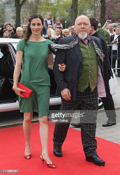 Actress Nina Kunzendorf and director Rainer Kaufmann arrive the Grimme Award 2011 on April 1 2011 in Marl Germany