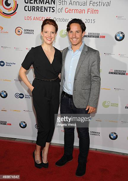 Actress Nina Rausch and Christian Wolf attend the 9th annual German Currents Festival of German Film opening night red carpet gala at the Egyptian...