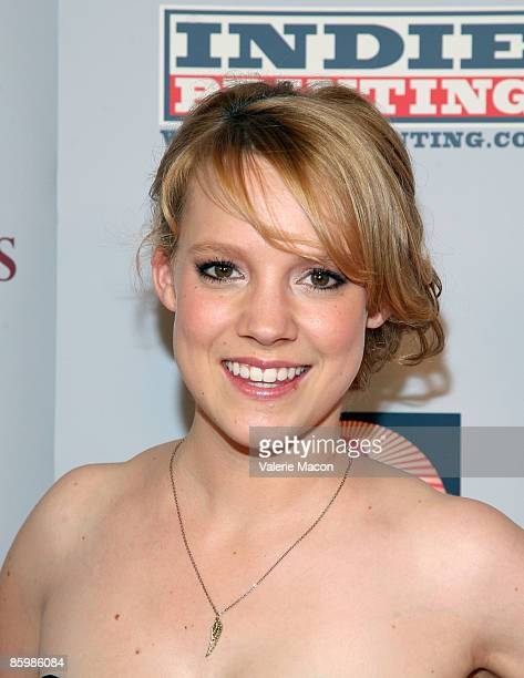 Actress Nina Rausch arrives at the premiere of April Showers on April 14 2009 in Los Angeles California