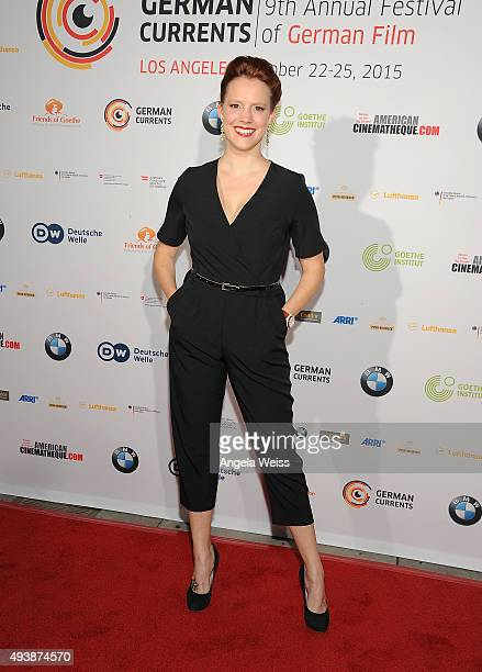 Actress Nina Rausch attends the 9th annual German Currents Festival of German Film opening night red carpet gala at the Egyptian Theatre on October...