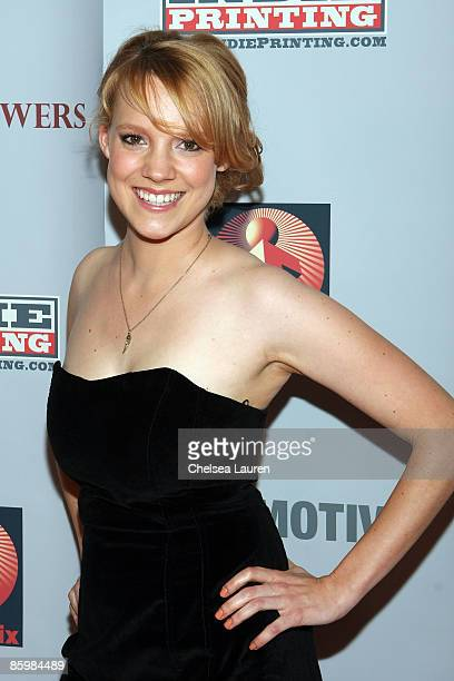 Actress Nina Rausch attends the Los Angeles premiere of April Showers at The Landmark Theater on April 14 2009 in Los Angeles California