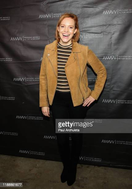 "Actress Nina Rausch attends the screening of ""Where We Go From Here"" at AMAW Studios on November 19, 2019 in Los Angeles, California."