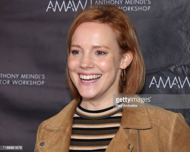 Actress Nina Rausch attends the screening of Where We Go From Here at AMAW Studios on November 19 2019 in Los Angeles California