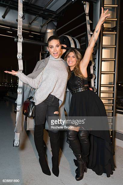Actress Nina Senicar and gym owner Elisabetta Canalis attend Elisabetta and Maddalena For SkyViewLAon December 9 2016 in Los Angeles California