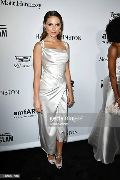 Actress Nina Senicar attends amfAR's Inspiration Gala Los Angeles at Milk Studios on October 27 2016 in Hollywood California