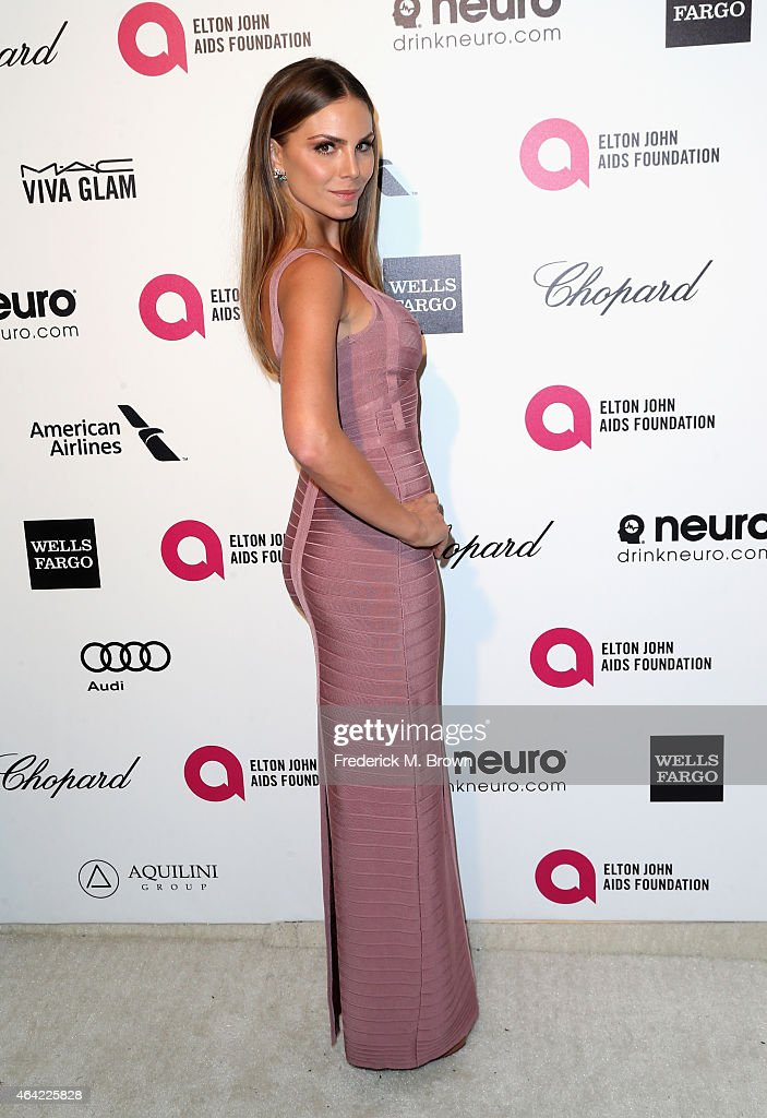 Actress Nina Senicar attends the 23rd Annual Elton John AIDS Foundation's Oscar Viewing Party on February 22, 2015 in West Hollywood, California.