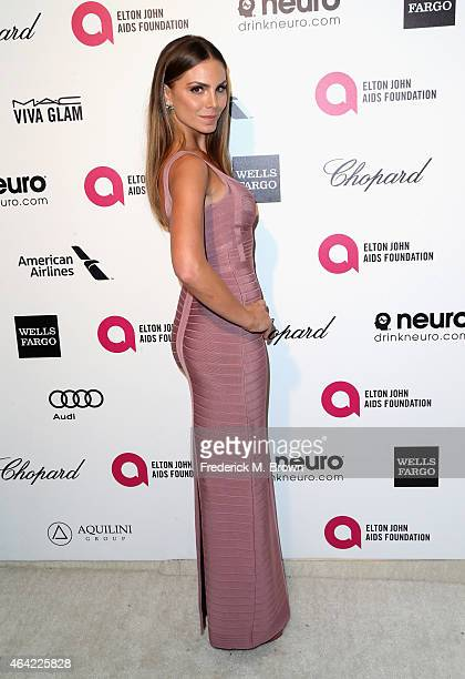 Actress Nina Senicar attends the 23rd Annual Elton John AIDS Foundation's Oscar Viewing Party on February 22 2015 in West Hollywood California