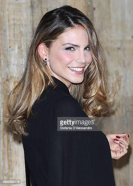 Actress Nina Senicar attends 'Tutto Molto Bello' Photocall on October 3 2014 in Milan Italy