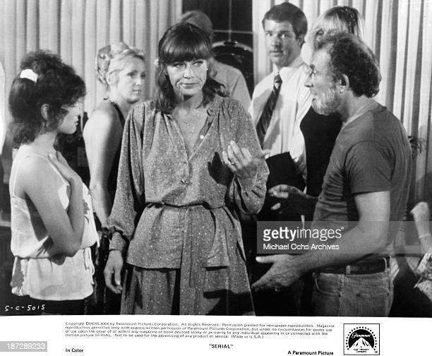 Actress Nita Talbot on set of the Paramount Pictures movie Serial in 1980