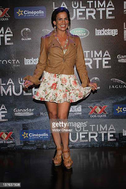 Actress Niurka Marcos attends The Last Death Mexico City premiere at Cinepolis Plaza Universidad on January 23 2012 in Mexico City Mexico