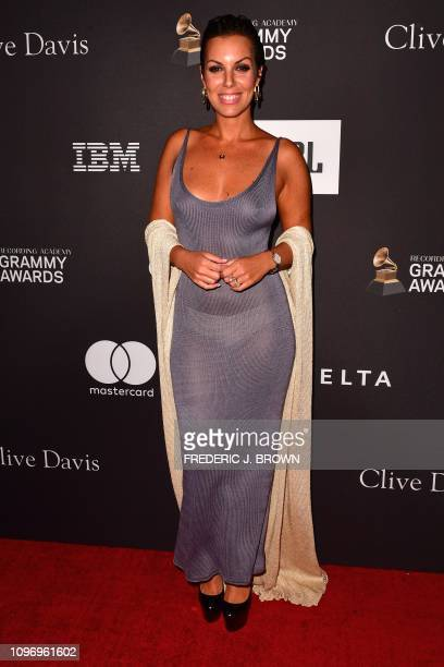 US actress Noa Lindberg arrives for the traditional Clive Davis party on the eve of the 61th Annual Grammy Awards at the Beverly Hilton hotel in...