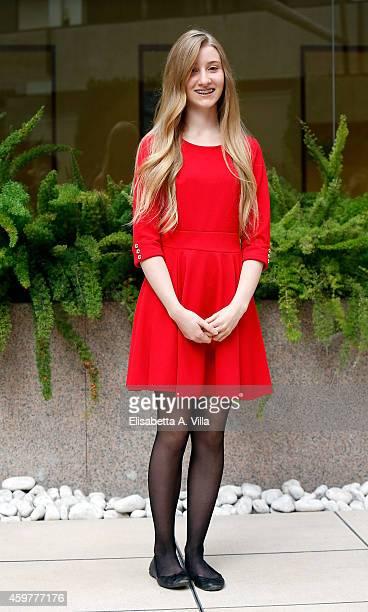 Actress Noa Zatta attends 'Il Ragazzo Invisibile' photocall at Visconti Hotel on December 1 2014 in Rome Italy