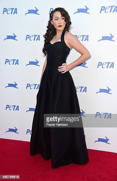 Actress Noah Cyrus arrives at PETA's 35th Anniversary Party at Hollywood Palladium on September 30 2015 in Los Angeles California