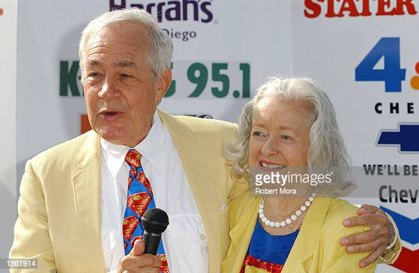 Actress Noel Neill and actor Jack Larson speak to the media at the 13th Annual Stater Bros Route 66 Rendezvous media day at Bob's Big Boy Restaurant...